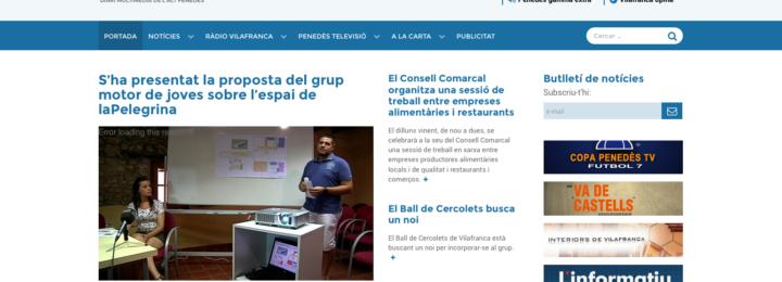 Nova web de RTVvilafranca